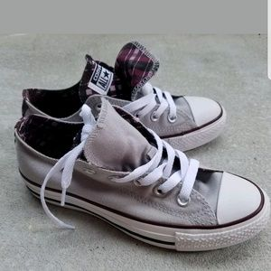 Converse All Star Gray Purple Sneakers Shoes NIB